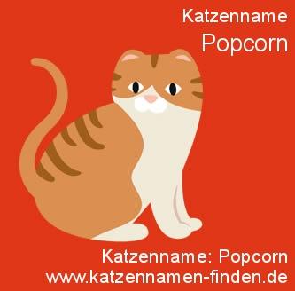 Katzenname Popcorn - Katzennamen finden